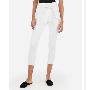 EXPRESS Super High Waisted Denim Perfect Pants